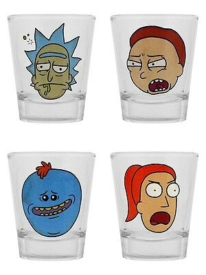 Rick And Morty Faces Shot Glass Set