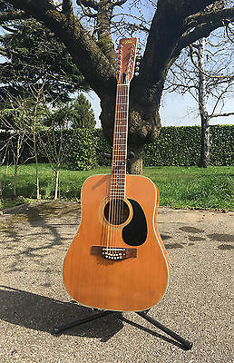 Guitare Vintage Folk  ARIA 9414 12 Cordes  Made In Japan