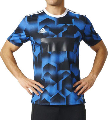 adidas Tango Cage Mens Short Sleeve Training Top - Blue