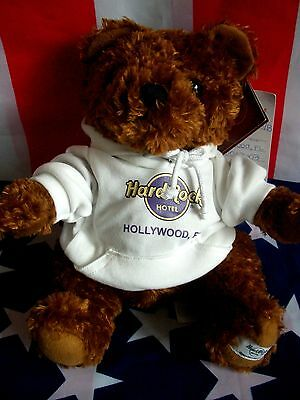 HRC Hard Rock Hotel Hollywood Fl. Sweater Hoodie Bear 2010 LE Made by Herrington