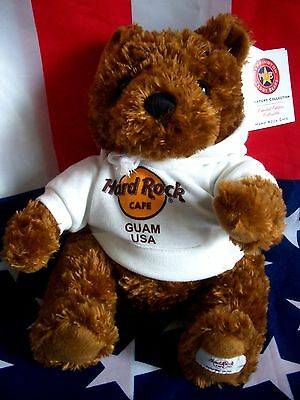 HRC Hard Rock Cafe Guam Sweater Hoodie Bear 2008 LE Made by Herrington