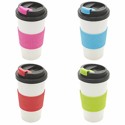 500ml Double Wall Drinking Cup Warm Coffee Tea Travel Thermal Mug Screw On Lid