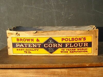 22126 Old Vintage Advert Wood Display Box Sign Polson's Flour Baker