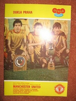 DUKLA PRAGUE v MANCHESTER UNITED 83-84 Cup Winners Cup
