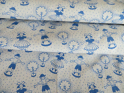"Bavarian White Blue Child  Children Duvet Cover Boys + Girls   40 ""by 55"" Dirndl"