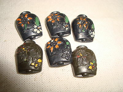 6 Vintage Cow Bell Shape Buttons