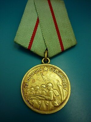 Original Russian Soviet WWII Campaign Medal For Defense of Stalingrad   ~ 2