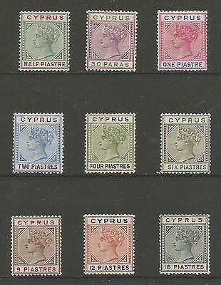 CYPRUS SG40-8 THE 1894 QV SET TO 18pi MOUNTED MINT CAT £180,SEE SCANS