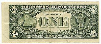 1985 $1 Federal Reserve Note - Miscut Error Currency - St. Louis Missouri - AK05