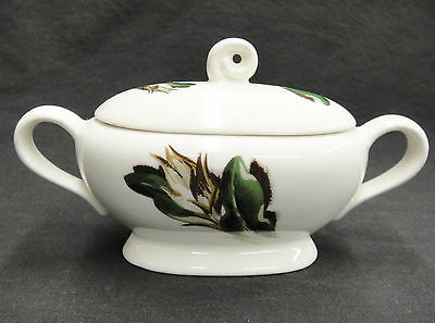 Santa Anita Flowers of Hawaii Night Blooming Cereus Sugar Bowl w Lid Oval Good