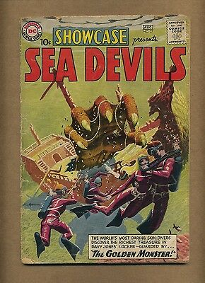 Showcase 27 (FR+) DC Comics 1960 Silver Age 1st SEA DEVILS! Grey Tone (c#13398)