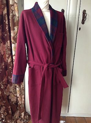 Vintage James Meade Wool 40's Style  Dressing Gown Robe X L