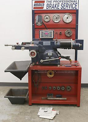 Ammco 4000E Electronic Disc and Drum Brake Lathe w/ Stand & 3-Jaw Chuck Tool Kit