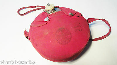 Vintage Boy Scouts Of America Canteen Original Red Pouch With Shoulder Strap !!