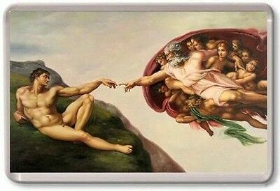 The Creation of Adam Michelangelo Sistine Chapel Fridge Magnet