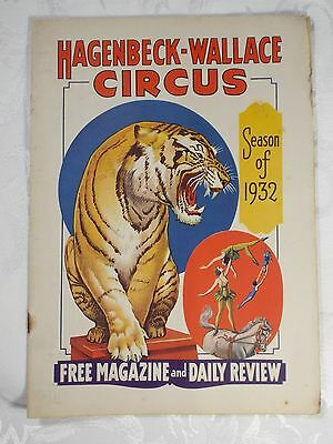 1932 Hagenbeck-Wallace Circus Magazine & Daily Review