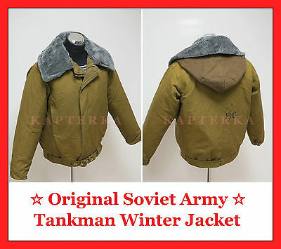 ☆ Genuine Russian Soviet Red Army Winter Uniform Jacket for Tankman Afghanka ☆