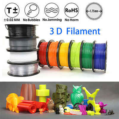 1KG/Roll 3D Printer Filament 1.75mm ABS PLA HOT Colours Aussie Stock Free Ship