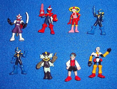 Bandai Megaman EXE Japanese Capsule Toy Set of 8 Figures