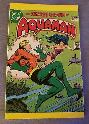 Aquaman Mini Comic Book, Secret Origin Of, 1981
