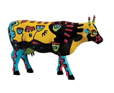 Cows On Parade Hong Kong Celebration Museum Edition Large Cow Figurine #46746