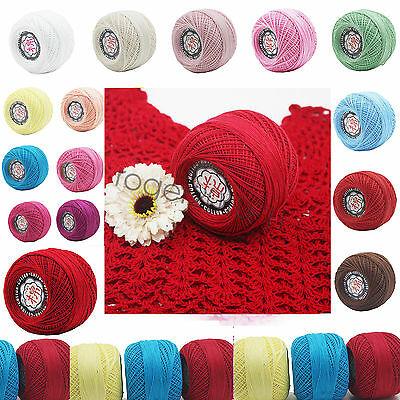 Wholesale 26 colors Cotton Thread Yarn Knitting Crochet Lace Embroidery Yarn new