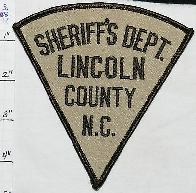 North Carolina, Lincoln County Sheriff's Dept Vintage Patch