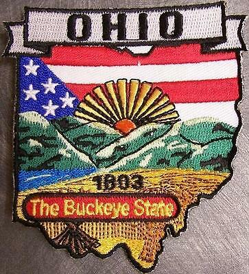 Embroidered USA State Patch Ohio NEW montage