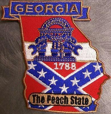 Embroidered USA State Patch Georgia NEW montage