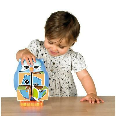 Tomy Play to Learn Mr Owl Pop Out Puzzles Blocks - T72100 - New