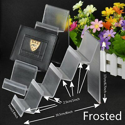 2 x 4-Tier Step Frosted Acrylic Retail Fashion Shop Display Stand Handbag Purse