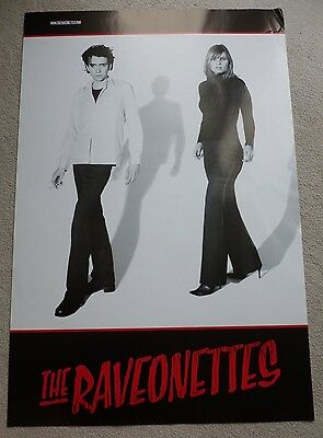 The Raveonettes    ORIGINAL VINTAGE PROMOTIONAL MUSIC POSTER