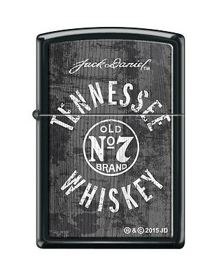 Zippo 7474, Jack Daniels Tennessee Whiskey Old No. 7, Black Matte Finish Lighter