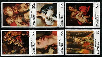 DOMINICA Sc.# 1809-14 Christmas 1995 Stamps