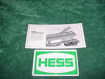 Father's Day! Easter! Hess Parts 1984 Hess Battery Card Toy Trucks  Collectibles