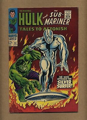 Tales to Astonish 93 (Nice!) 1st full Silver Surfer outside FF; Hulk (c#13157)
