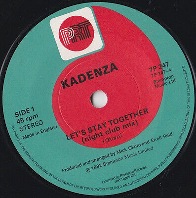 """Kadenza * Let's Stay Together * 7"""" Single Prt 7P 247 Plays Great"""