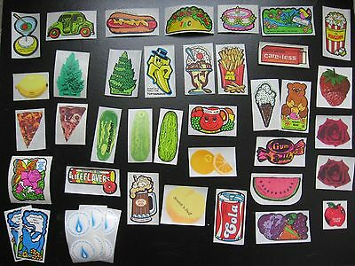 Vtg 80s Mello Smello Scratch & Sniff Stickers Cake Roses Taco Pizza Pickles Pine