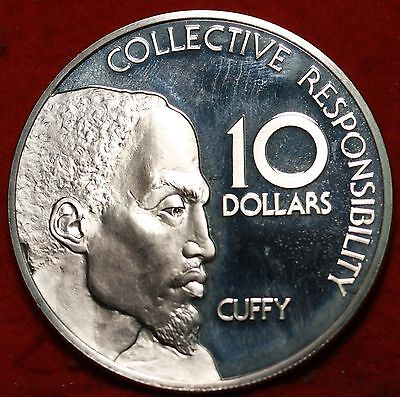 Uncirculated 1977 Proof Guyana $10 Silver Foreign Coin Free S/H