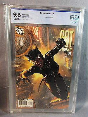 CATWOMAN #73 (Adam Hughes Cover) White Pages CBCS 9.6 NM+ DC 2008 cgc