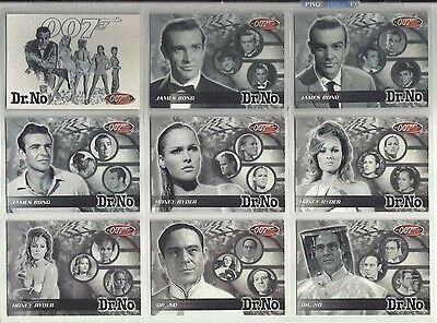 """2002 James Bond: 40th Anniversary DR. NO """"Complete Set"""" of 18 Chase Cards (1-18)"""