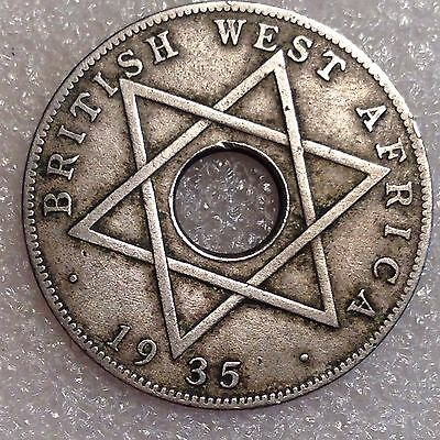 British West Africa 1/2 Penny 1935 Better Date Coin!