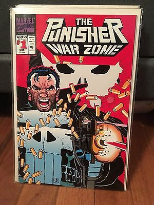 The Punisher: War Zone #1 (Mar 1992, Marvel) Die Cut Bagged/Boarded Never Read