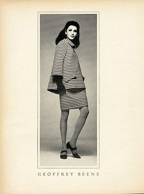 GEOFFREY BEENE Fashion Ad Page 1966 - Houndstooth Suit