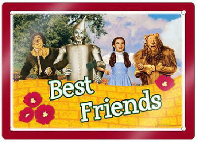 The Wizard of Oz Dorothy, Scarecrow, Tin Man and Lion Metal Tin Sign NEW UNUSED