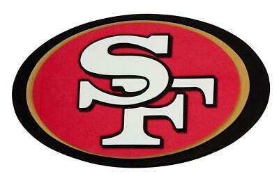 San Francisco 49 ers 3D Fan Foam Logo Sign Bild,NFL Football,Relief Wandlogo