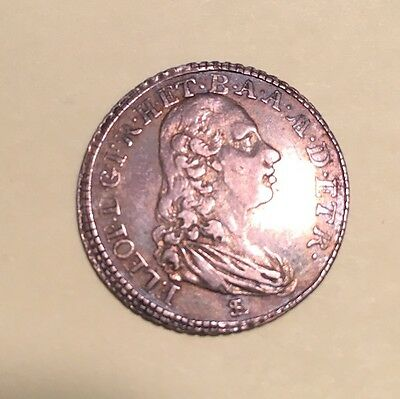 Italy / Italian States Tuscany  1789  1 Paolo Silver Coin, Almost Uncirculated