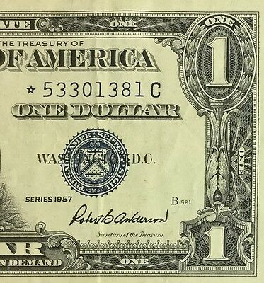 1957 $1 Blue Choice VF SILVER Certificate *** STAR *** X381 Old Currency