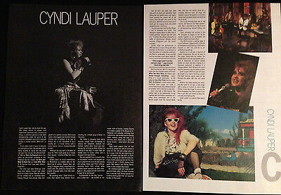 Cyndi Lauper - Original 2 Page Article From Rock Review Book 1984