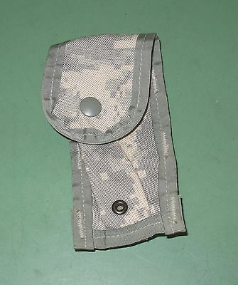 US Military Issue Molle II Single 9MM Magazine Ammo Pouch Army Combat ACU Camo